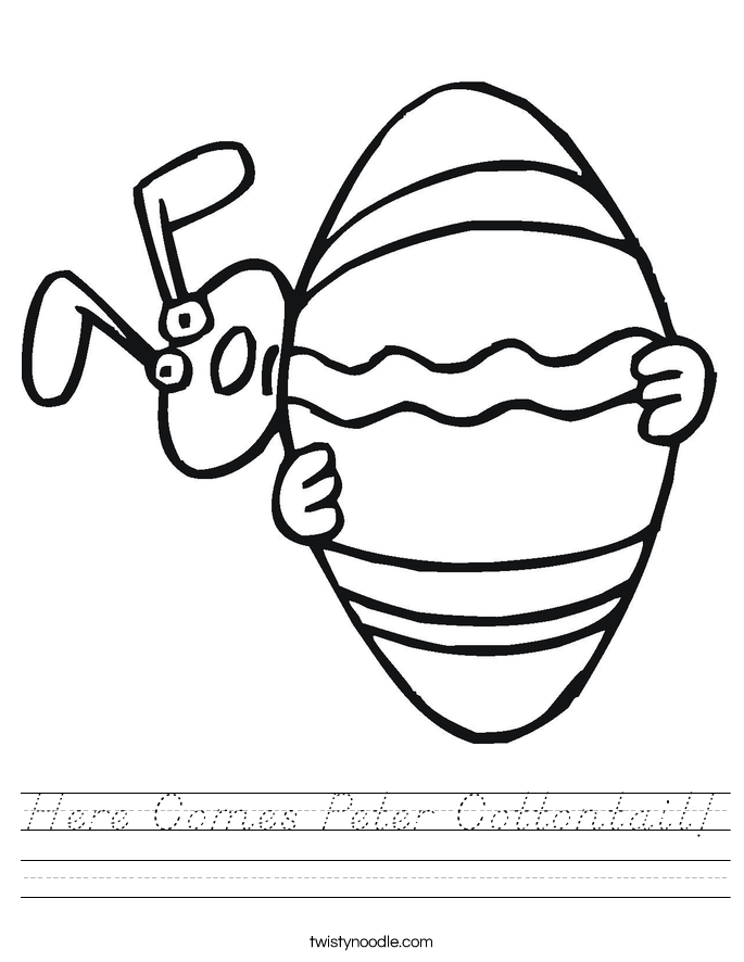 Here Comes Peter Cottontail! Worksheet