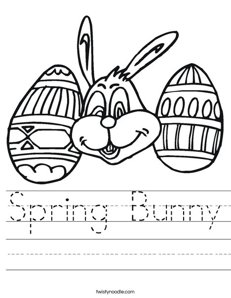 Spring Bunny Worksheet