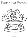 Easter Hat Parade Coloring Page