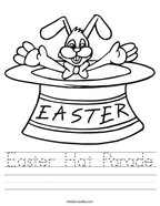 Easter Hat Parade Handwriting Sheet