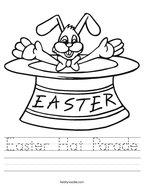 Easter Hat Parade Handwriting Sheet