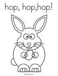 hop, hop,hop! Coloring Page