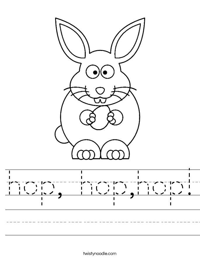 hop, hop,hop! Worksheet