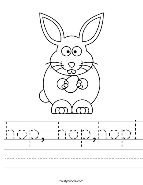 Hop Worksheet Twisty Noodle
