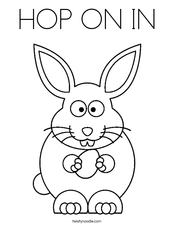 HOP ON IN Coloring Page