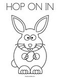 HOP ON INColoring Page
