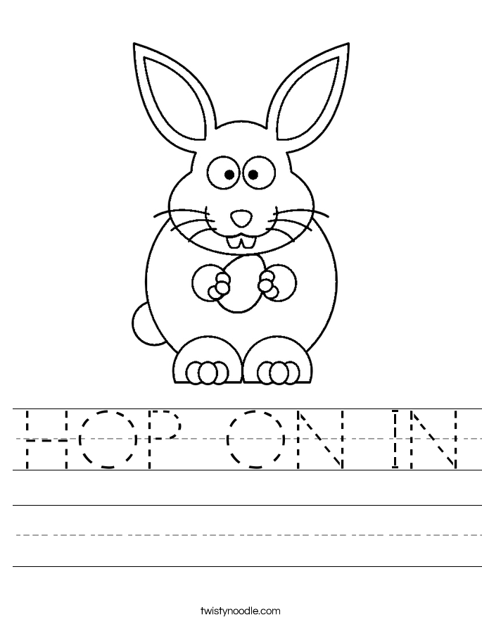 HOP ON IN Worksheet