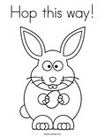 Hop this way!Coloring Page