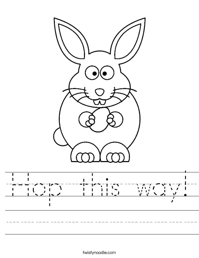 Hop this way! Worksheet