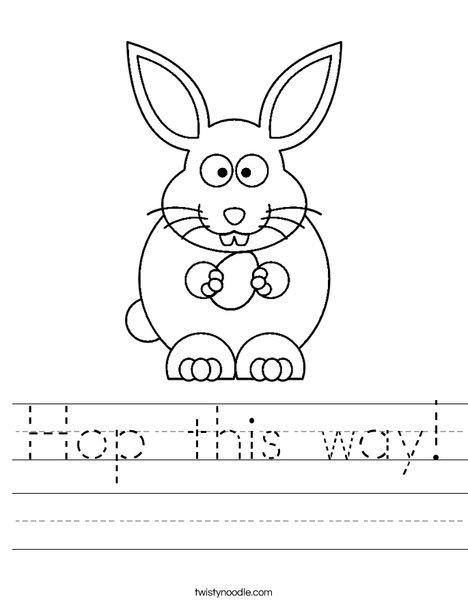 Hop this way Worksheet