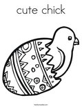 cute chick Coloring Page