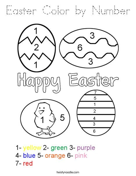 easter color by number coloring page tracing twisty noodle. Black Bedroom Furniture Sets. Home Design Ideas