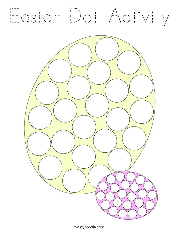 Easter Dot Activity Coloring Page