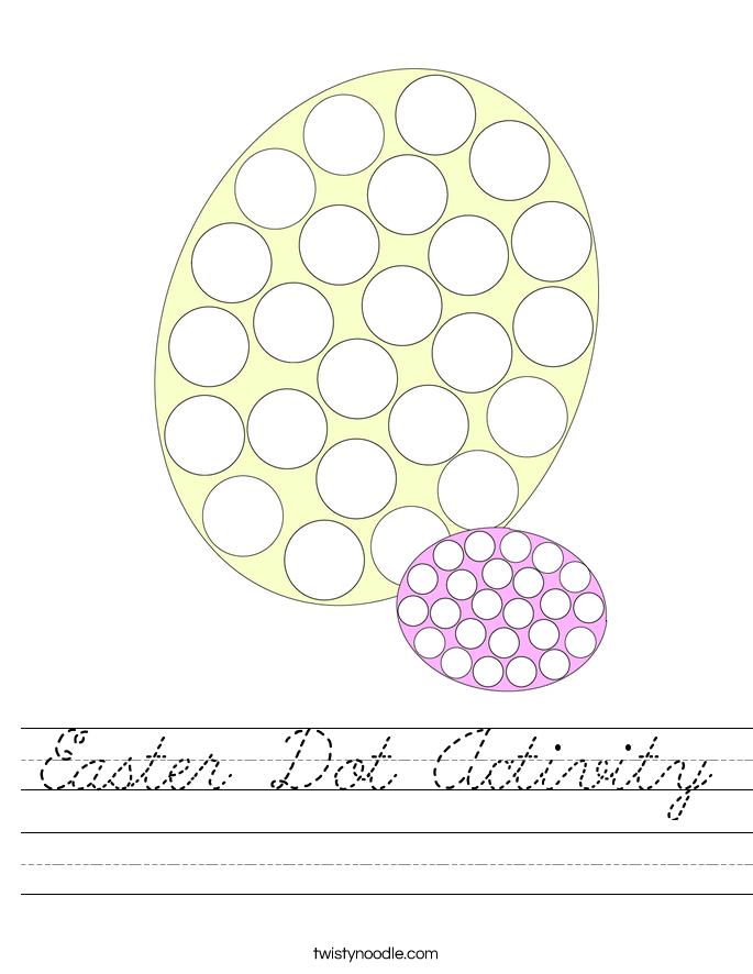 Easter Dot Activity Worksheet