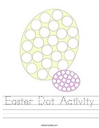 Easter Dot Activity Handwriting Sheet