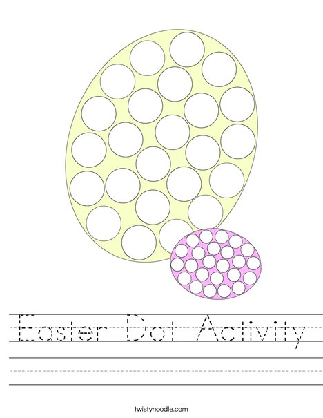 Easter Dot Activity Worksheet