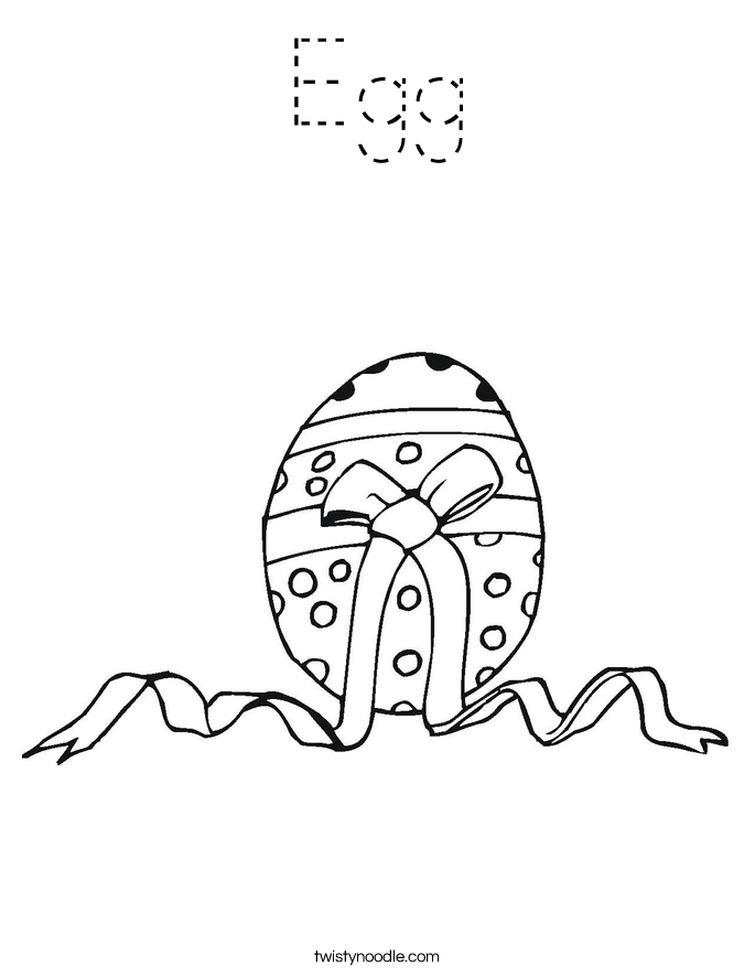 Egg Coloring Page
