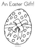 An Easter Gift! Coloring Page