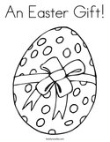 An Easter Gift Coloring Page