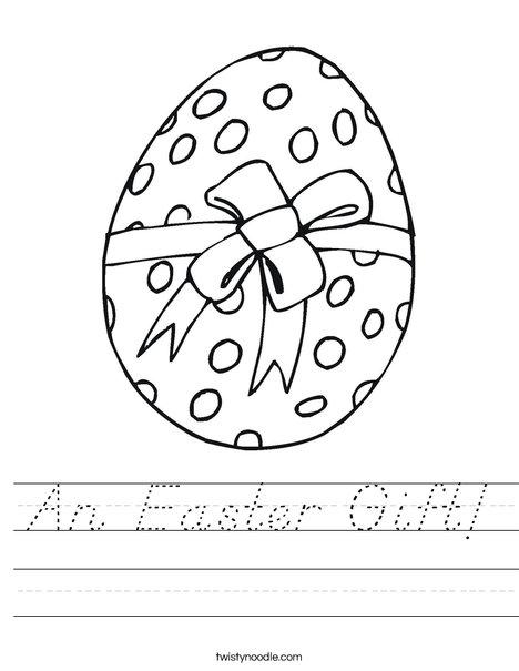 Easter Egg Gift Worksheet