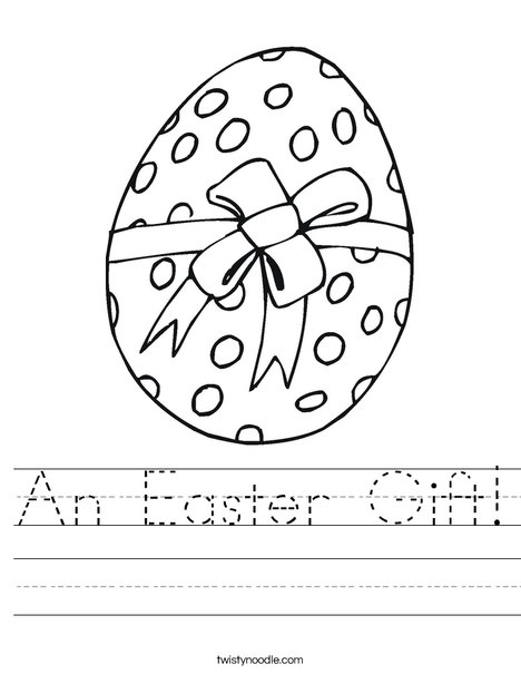 Easter Egg Gift Worksheet
