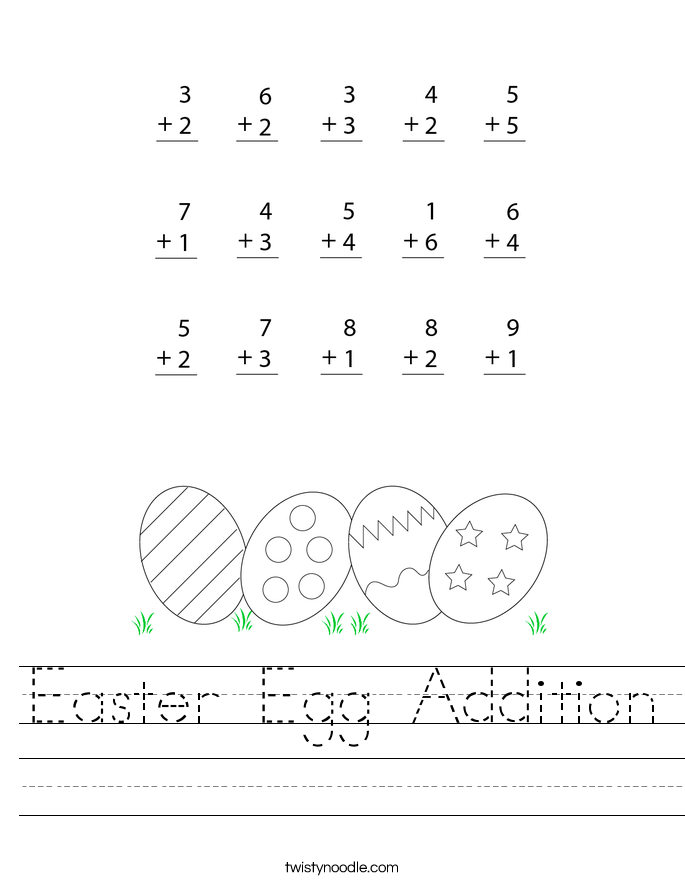 Easter Egg Addition Worksheet