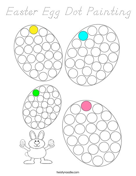 Easter Egg Dot Painting Coloring Page
