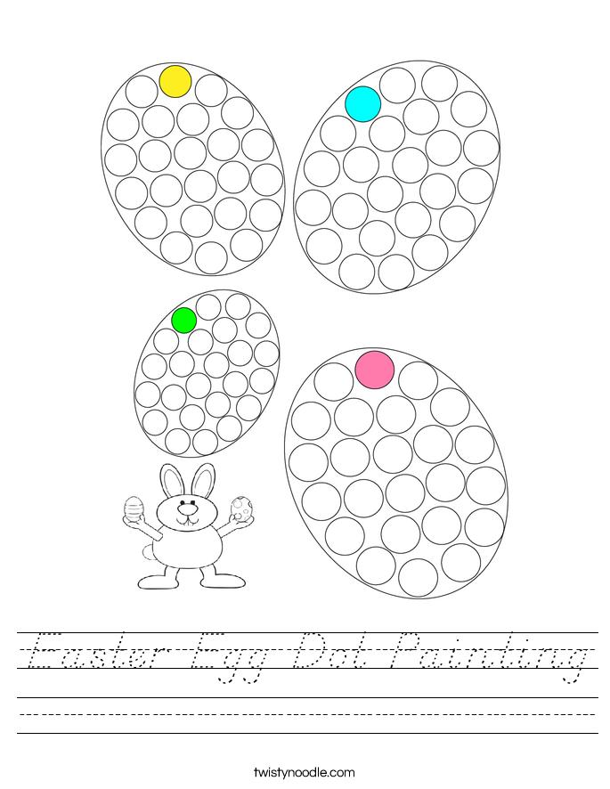 Easter Egg Dot Painting Worksheet