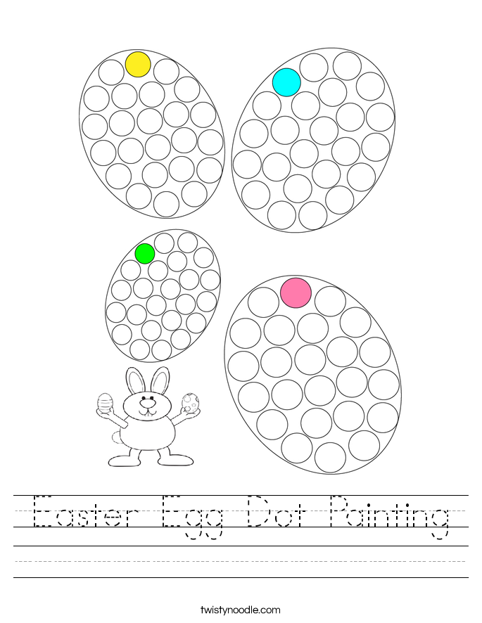 Easter Egg Dot Painting Worksheet