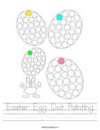 Easter Egg Dot Painting Handwriting Sheet