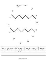 Easter Egg Dot to Dot Handwriting Sheet
