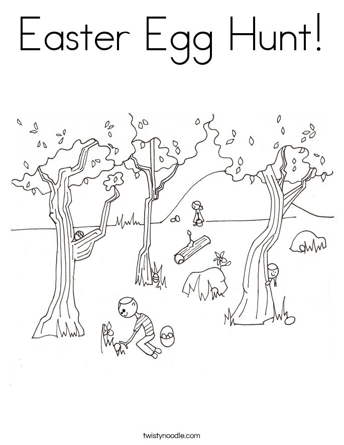Easter Egg Hunt! Coloring Page