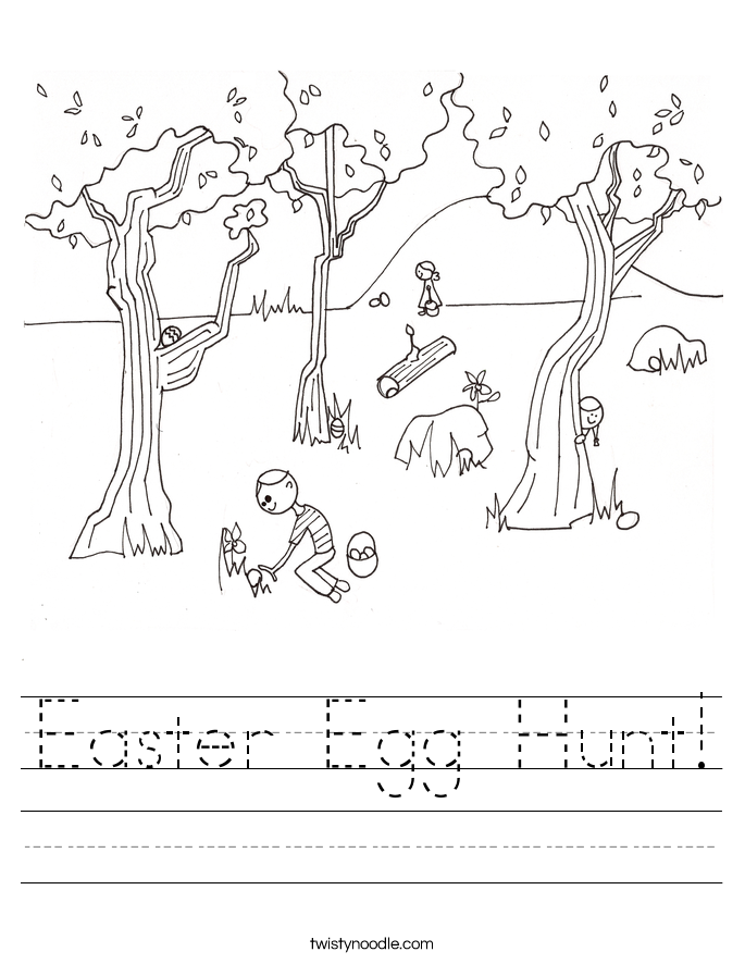 Easter Egg Hunt! Worksheet