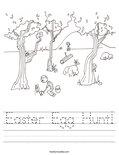 Easter Egg Hunt! Worksheet