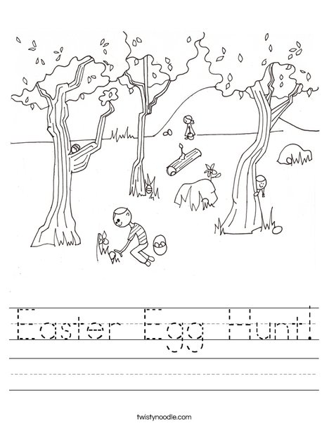 Easter Egg Hunt Worksheet