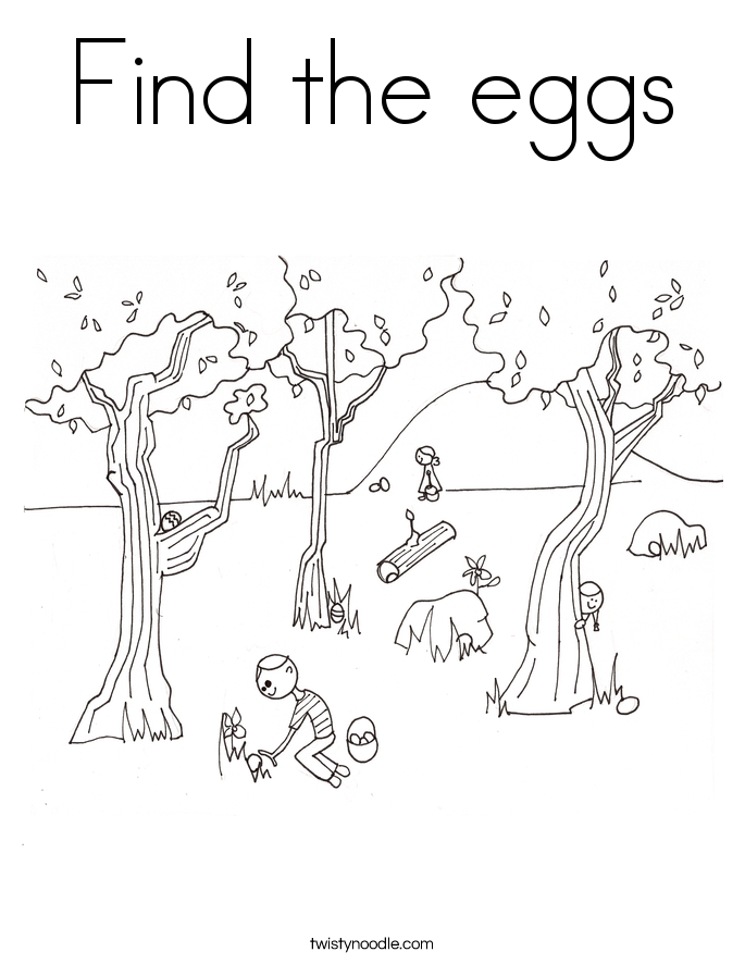 Find the eggs Coloring Page