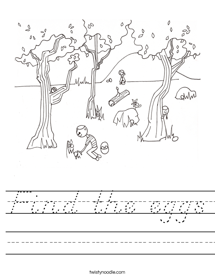 Find the eggs Worksheet D 39 Nealian