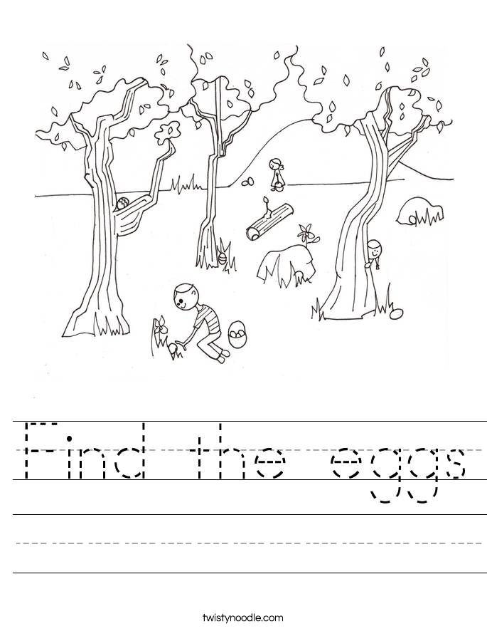 ... Eggs Worksheets http://twistynoodle.com/find-the-eggs-worksheet