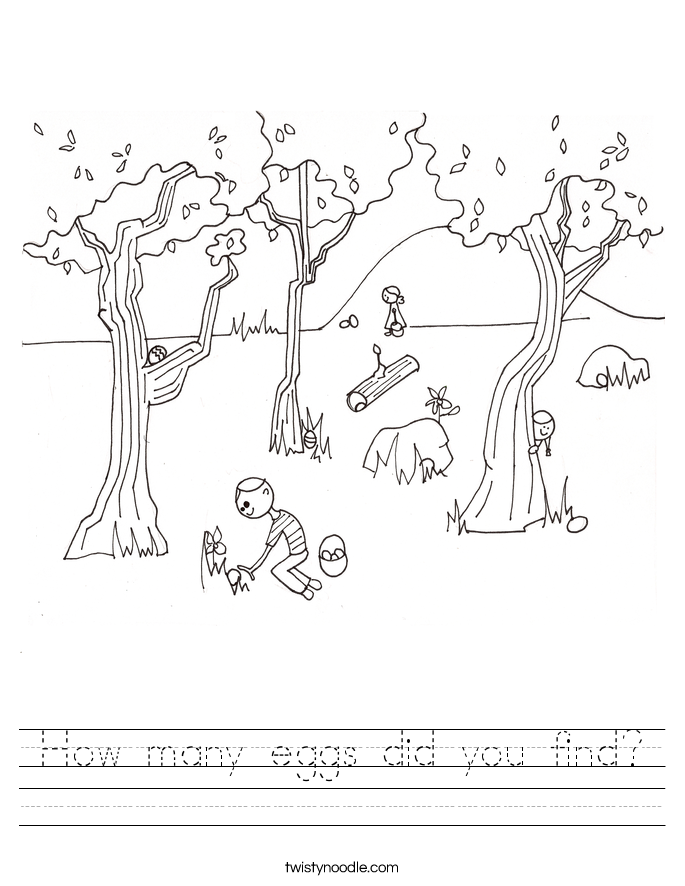 How many eggs did you find? Worksheet