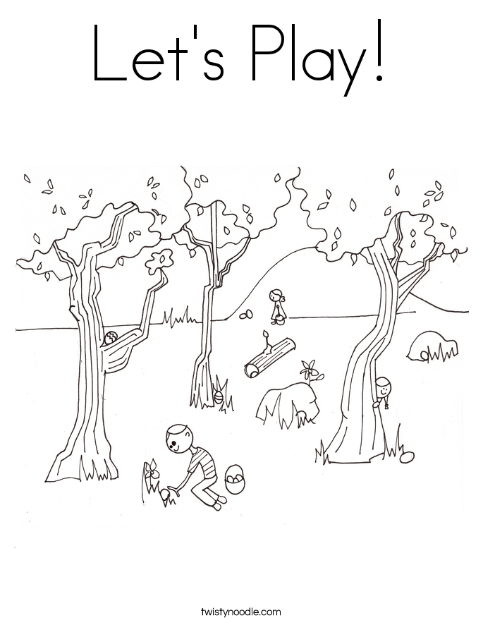 Lets Play Coloring Page