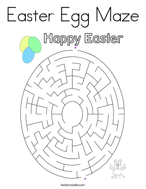 Easter Egg Maze Coloring Page