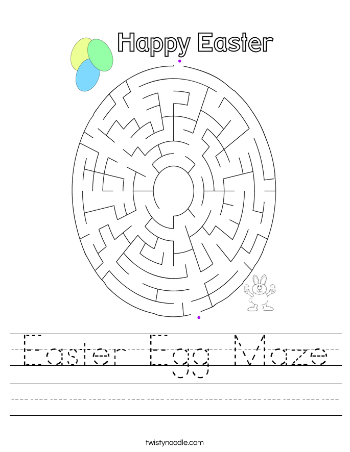 Easter Egg Maze Worksheet