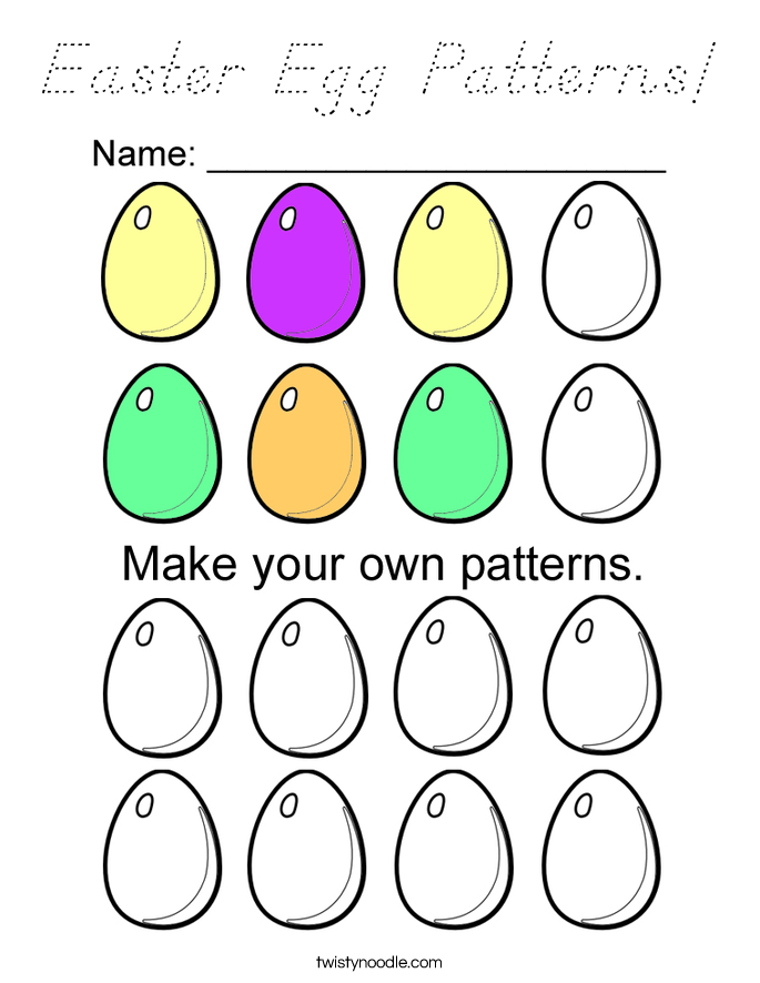 Easter Egg Patterns! Coloring Page