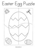 Easter Egg Puzzle Coloring Page