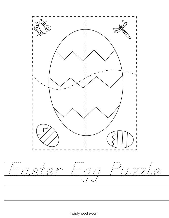 Easter Egg Puzzle Worksheet