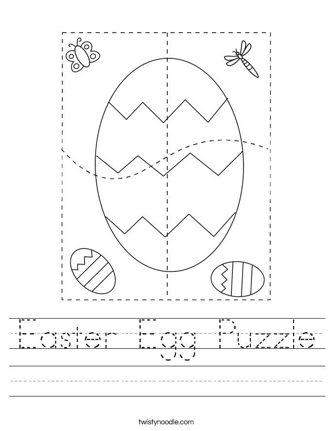 Easter Egg Puzzle Worksheet
