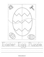 Easter Egg Puzzle Handwriting Sheet