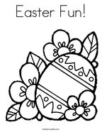 Easter Fun Coloring Page