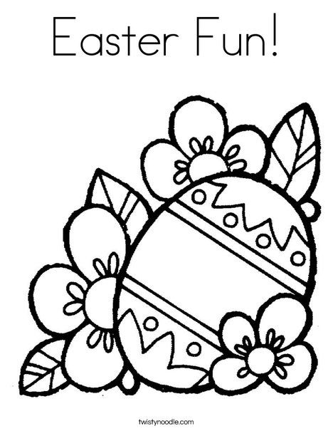 Easter Fun Coloring Page Twisty Noodle