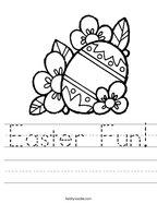 Easter Fun Handwriting Sheet